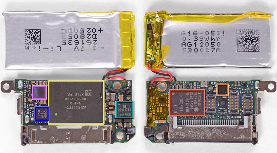 第7世代iPod nano分解写真
