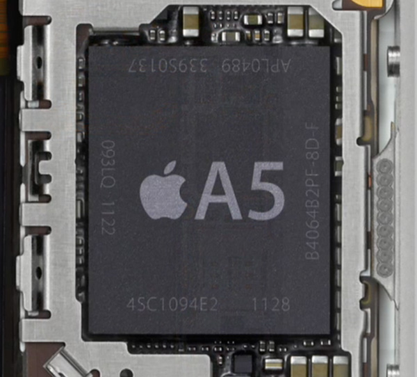 iPhone 4S A5チップ