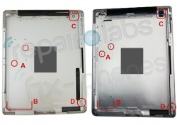 iPad 3とiPad 2 バックパネル比較