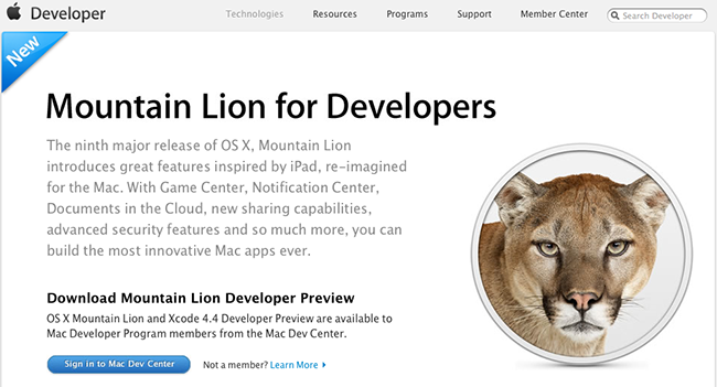Mountain Lion for Developers