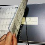 コクヨ・カバーノート用カレンダー