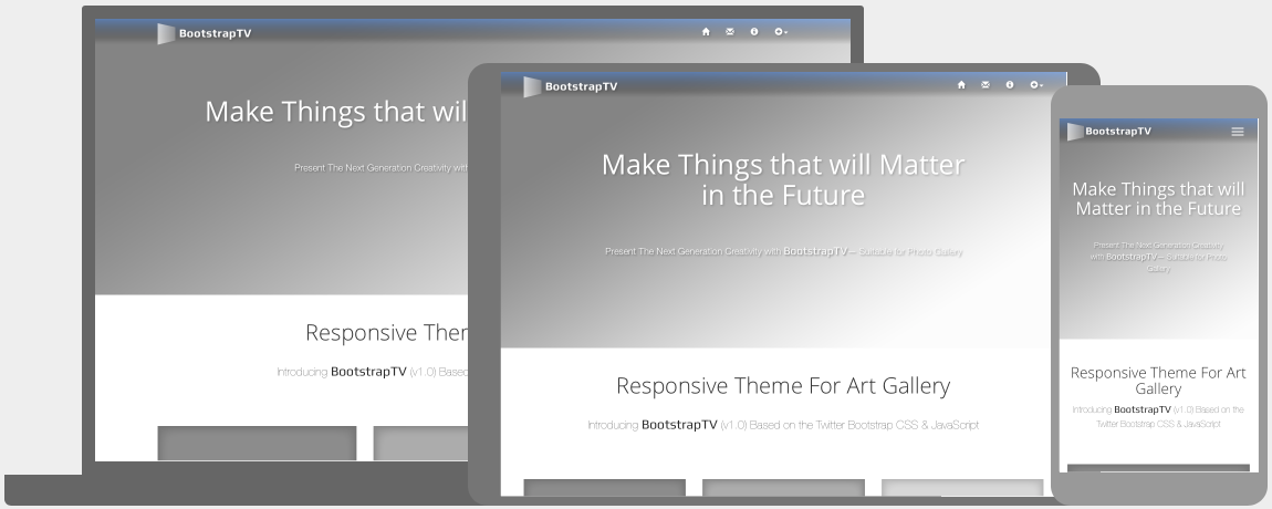 BootstrapTV Theme For Art Gallery
