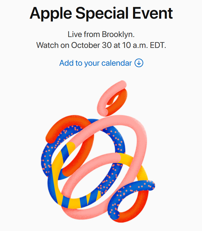 Apple Special Event on October 30, 2018