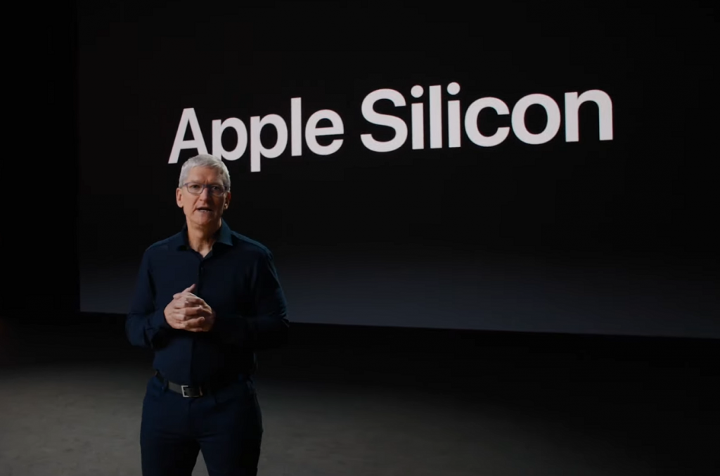 Tim Cook introduced the transition to Apple Silicon, Macs will use its own chips